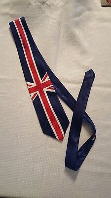 c57edfe72078 United Kingdom UK Union Jack Flag Great Britain Tie STEVEN HARRIS HANDMADE