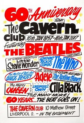 0647 Vintage Music Poster Art - The Beatles At The Cavern Club 60th Anniversary