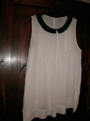 Uk 12  Mama & Papas   Cream  And Black Top  Great Item Little Used
