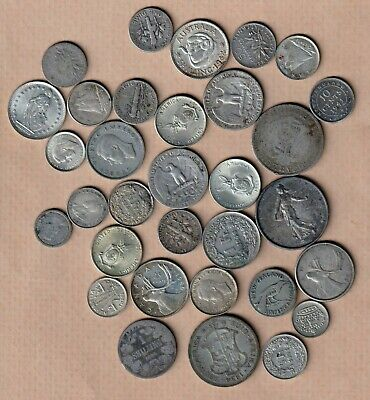 Joblot Of World Silver Coins And 134 Grammes