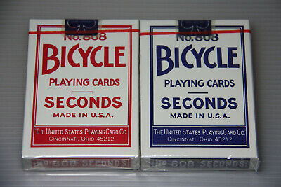 1 set OHIO made BICYCLE Seconds playing cards 1 Red + 1 Blue