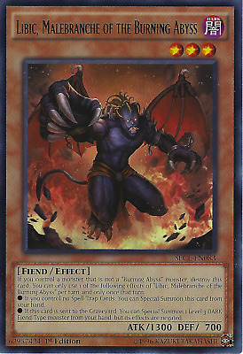 Malebranche of the Burning Abyss DUEA-EN084 Rare Yu-Gi-Oh Card 1st Edition Cir