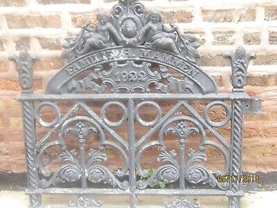 Antique Cast Iron Gate 1922 Familie H Mammen 97 Years Old