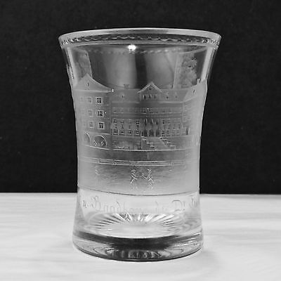 Antique German Bad Cannstatt Spa Beaker Glass - Badhaus Glas Becher - GL