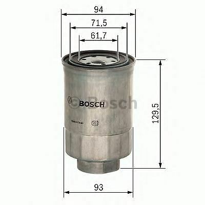 New Engine Fuel Filter Oe Quality Replacement Bosch 1457434453