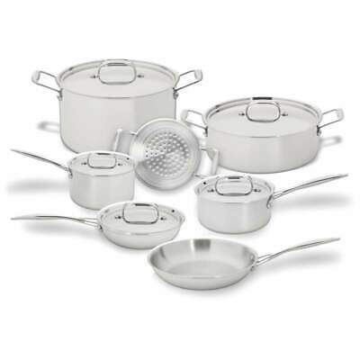 Maxam® Tri-Clad 3-Ply T304 12 Piece Stainless Steel Cookware Set