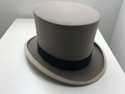 Vintage Grey Top Hat By Woodrow Piccadilly London Ernest Clough (King George Vi)