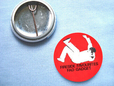 Fad Gadget-25mm Fireside Favourites Badge Frank Tovey Depeche Mode Mute Records