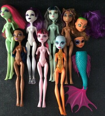 Monster High Dolls Bundle Nude With No Arms