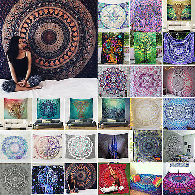 Square Mandala Hippie Tapestry Wall Hanging Gypsy Summer Towel Throw Mat Blanket
