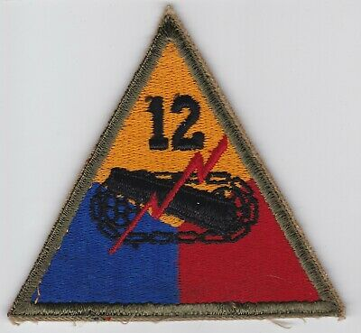 12Th Armored Division Us Army Patch Wwii Ww2 Ssi Original Minty