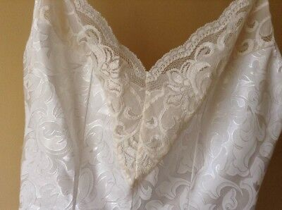 Vintage 80s ivory and cream lace teddy Lingerie size Small