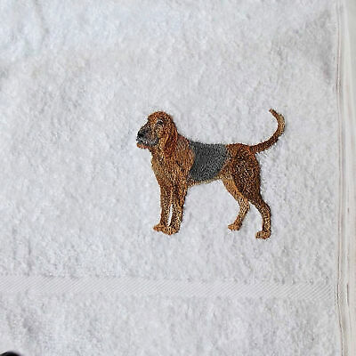 Bloodhound dog Embroidered Hand Towel, New Home Gift, Embroidered Towel