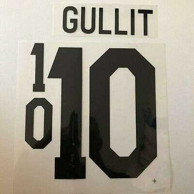 GULLIT Holland Football Shirt Nameset Retro Name Number Set Print Transfer 1988