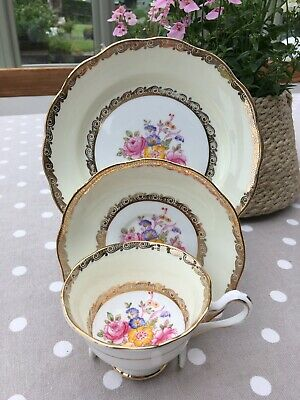 Royal Albert Crown China Tea Cup, Saucer And Plate