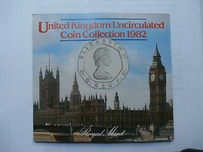 1982 Royal Mint United Kingdom Uncirculated Coin Collection (7 coins)