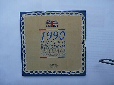 1990 Royal Mint United Kingdom Brilliant Uncirculated Coin Collection Set