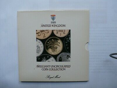 1989 United Kingdom Royal Mint Brilliant Uncirculated Coin Set Collection