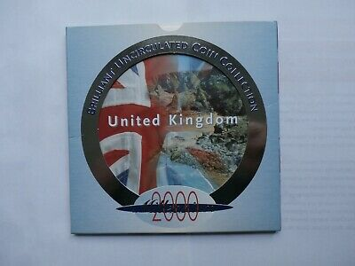 2000 Royal Mint UK GB Brilliant Uncirculated Coin Set Collection