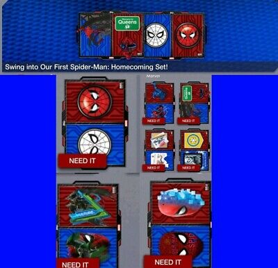 Topps Marvel Collect Card Trader Spider-Man Homecoming Badge Art Set w/ Award