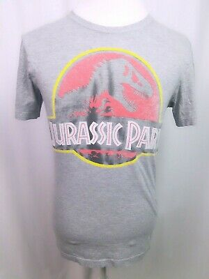 Shirt Jurassic Park Faded Logo Adult Ringer T