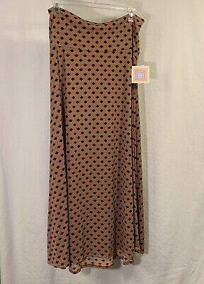 645b5806db NEW LULAROE MAXI Skirt Large black red blue orange paisley flowers ...