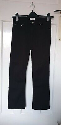 5df0f986 ZARA BLACK CROPPED Kick Flare Trousers Size 10 - £7.99 | PicClick UK