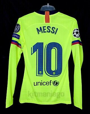 158e85abcc5 Barcelona player Issue shirt 2018-19 Messi UCL Away match unworn Size M