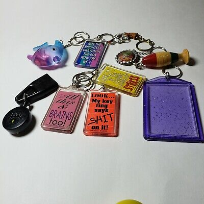 Vintage Lot Novelty Advertising Keychains Bundle 10