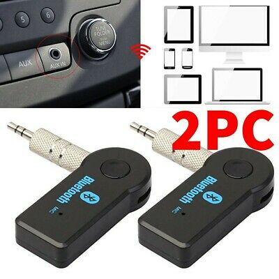 USA Wireless Bluetooth Receiver 3.5mm AUX Audio Stereo Music Home Car Adapter