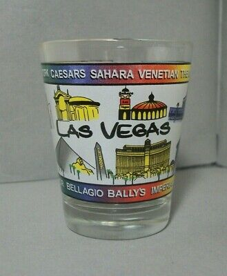 Souvenir Shotglass from Las Vegas, NV featuring Hotels on the Strip
