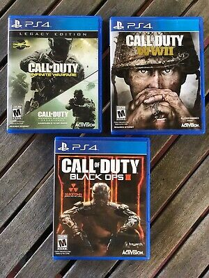 Sony Ps4 Call Of Duty Ww2, Infinite Warfare, Black Ops 3 Bundle - All Tested