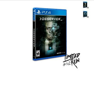 Observer ps4 playstation Nuevo SEALED Limited Run