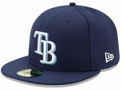 huge discount 8fd69 f2013 New Era Tampa Bay Rays GAME 59Fifty Fitted Hat (Light Navy) MLB Cap Vtg