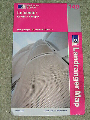 OS Ordnance Survey Landranger Map Sheet 140 Leicester, Coventry & Rugby