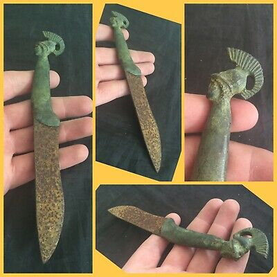 Rare ancient Roman Near Eastern  bronze piece of Cutlery, 2nd to 4th Century ad