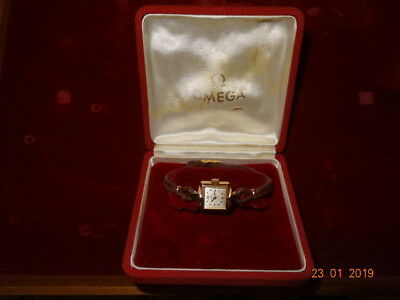 1950 OMEGA COCTAIL 18 x 25 PLAQUE OR 60 Mic Cal. 244 17J ORGNL BOX BAND SERVICED