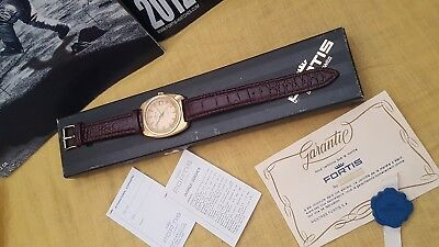 1960 FORTIS AUTOMATIC DATE GP CUSHION 38mm ETA 2783 21J ORGNL BOX PAPERS SERVICE