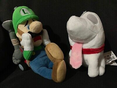 Super Mario Bros Luigi S Mansion Plush Set Polterpup Vacuum