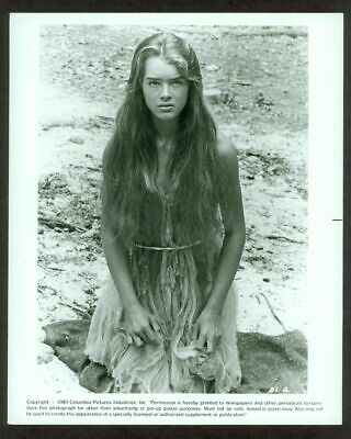 "Brooke Shields Original Columbia ""Blue Lagoon"" Photo Vf 1980"