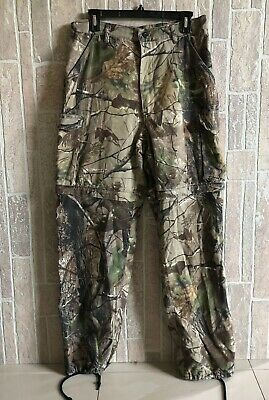 eebc8a7032f99 Liberty Realtree Camo Pants Medium Camouflage Hunting Cargo Draw String 32 /34