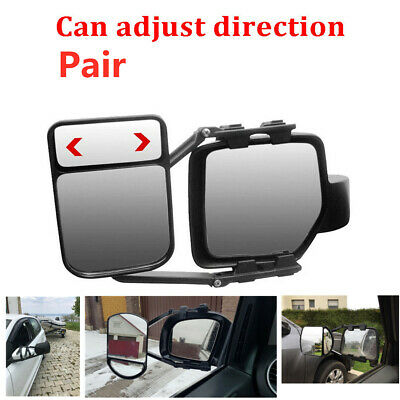 2X  Heavy Adjustable Trailer Towing Clip-on Trailer Wing Extension Towing Mirror