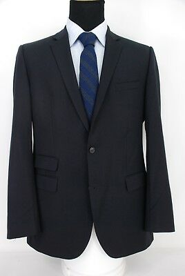 5640fd4a0 HUGO BOSS NAVY Blue Super 110s Reda Wool Sport Coat Jacket Blazer 44 ...