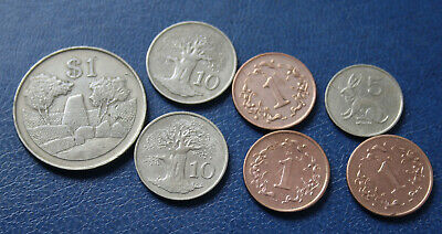 Small Group Of Zimbabwe World Coins Circulated World Coins #Cqh70