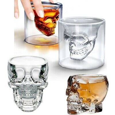 Hot Crystal Skull Head Vodka Whiskey Shot Glass Cup Drinking Ware Home Bar 75ml