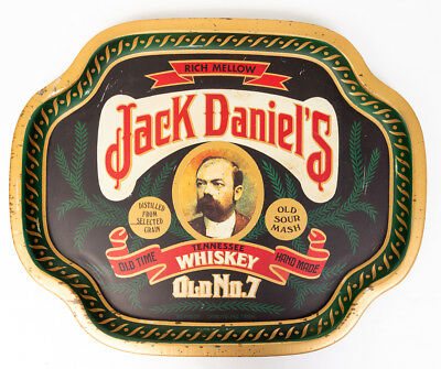 Jack Daniels Whiskey Tin Tray Old No 7 Barringer Wallis and Manners Vintage
