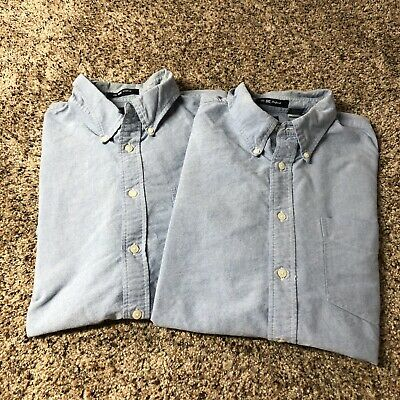 61c81d98fcdfb Lot Of 2 GAP The Big Oxford Chambray Denim Shirt Men Button Down Cotton  Shirt L