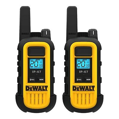 DeWALT DXFRS300 1W Walkie Talkies Heavy Duty Business Two-Way Radios