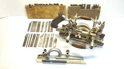 Vntge Stanley 55 Universal Combination Plane in Custom Box 43 Blades Sweetheart