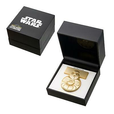 Star Wars Celebration Medal of Yavin Exclusive 24KT Gold Plated Collectors Pin